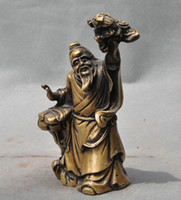 ancient chinese statues - christmas old chinese Period pure bronze Ancient Old people Dragon Art statue sculpture halloween