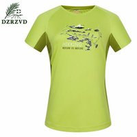 Wholesale DZRZVD Summer Outdoor Sports Round Collar Quick Dry T Shirts Couple Sports Hiking Camping Breathable Sunscreen Short Sleeve