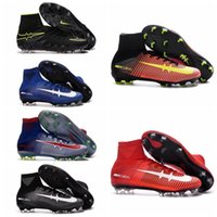 Wholesale 2016 Superfly Soccer Boots Hypervenom FG Soccer Cleats Mercurial Football Boots Mens High Ankle Indoor Soccer Shoes