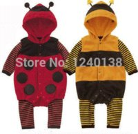 bee toddler costume - New Baby Toddler Fleece Ladybird Bee Costume Fancy Dress Romper Outfit M dress swimming costume