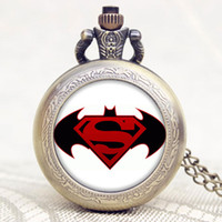 american football eagles - Fashion Russia s Double headed Eagle Batman and Superman Brazil Logo Football American Shield Pocket Watch with Necklace P1105