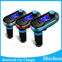 best bluetooth car kit iphone - Best Bluetooth Car Charger Kit Handsfree MP3 Player FM Transmitter Dual USB Bluetooth Car Charger Support SD Line in AUX BT66 Free DHL
