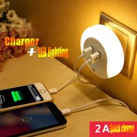 apple intelligence - The new product Creative intelligence double usb socket a night light Household electric induction lamp led iPhone samsung mobile charger an