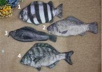 Wholesale 3D print Fish coin purses Cute Simulated fish pencil bag Black Porgy Oplegnathidae Crucian Grouper change purse coin case kids fashion pouch