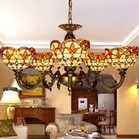 bedroom colours - Tiffany ligths chandelier colours glass pendant lamps originality inspired dining room lights hand made lampshade living room lighting