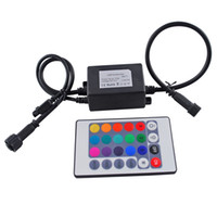 Wholesale Infrared RGB Controller W IP67 Waterproof Mini LED Controller with IR Touth Remote Control For RGB LED Bulb Lights DC12V with Keys