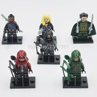 Wholesale Decool Super Heroes Minifigures Green Arrow Arsenal Building Blocks Sets Model Figure Toys For Children
