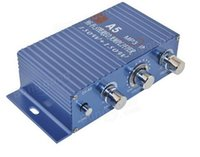 Wholesale A5 Car Motorcycle MP3 Hi Fi Stereo Sound Amplifier Blue Silver