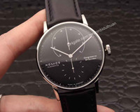 analog coats - High quality Business leisure automatic mechanical leather strap coated glass l stainless steel shell NOMOS LAMBDA mens watches