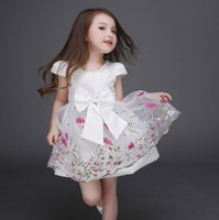 age dress - Quality Floral Lace Costume Child Little Girls Summer Flower Dresses Chinese Traditional Dress For Kids Ages