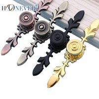 Wholesale 100PCS Zinc Alloy Handles And Knobs Continental Kitchen Cabinet Handles Black golden Kitchen Cabinet Drawers Handles And Knobs