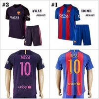 barcelona home - 16 Men s Soccer Suit Barcelona Home Away Soccer Jersey MESSI ARDA A INIESTA SUAREZ I RAKITIC etc football shirt with shorts