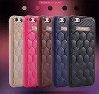 Piel a prueba de choques de la cubierta de la caja de la fibra del carbón para el iPhone 7 y el iPhone 7 Caso más de lujo con el embalaje