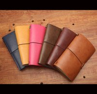 Wholesale Faux Leather Bound traveler Notebook Vintage Style Travel Joural Handmade Notepad Colors Available