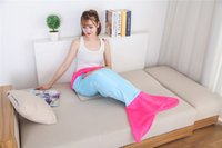 Wholesale Fashion Shark Sleeping Bag Mermaid Tail Shark Blanket Sleeping Bags for Boys Girls Flannel Anime Blankets