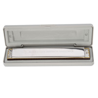Wholesale High Quality Swan Holes Double tone Wide Range C Tone Harmonica and White Hard Box for Beginner