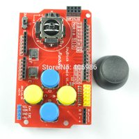 analog keypad - DIYmall Joystick Shield for Arduino Expansion Board Analog Keyboard Keypad Button Mouse
