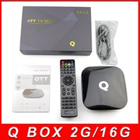 best mini android tv - 2GB GB Q Box Android TV Streaming Media Mini PC New G Box K Quad Octo Core Internet TV Box fully loaded Kodi XBMC Best TV Box