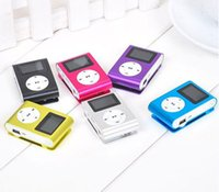 Wholesale Colorful MINI Clip MP3 Player with LCD Screen Music Player Support Micro SD Card TF Slot Earphone USB Cable with Box