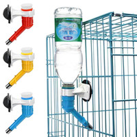 Wholesale Plastic Small Pet Dog Cat Portable Drinking Kit Hanging Water Dispenser Fountain Bottle Head Feeder Blue Red Yellow SI