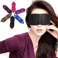 Wholesale 3D Eye Mask Sponge Shade Nap Cover Blindfold Mask Eyeshade Sleep Masks for Sleeping Trave vs Silk Eye Masks
