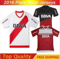 argentina club soccer - 2016 River Plate Soccer Jersey Sanchez Rodrigo Mora Football Shirt Batistuta Balanta River Plate Club Argentina Red camisas Top quality