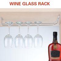 Wholesale cm quot Wine Glass Cup Rack Under Cabinet Stemware Holder Hanger Shelf Home