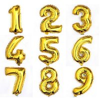 balloon shine - 30 Inch Large Size Shining Gold Number Foil Balloons Birthday Wedding Party Christmas Decoration Kids Toy HJIA654