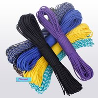 Wholesale 100FT M color7Strand Climbing Camping survival equipment Paracord Paracord Parachute Cord Lanyard Rope Mil Spec Type III
