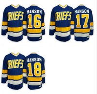 Wholesale 2016 Charlestown CHIEFS Men s Jack HANSON Jerseys Steve HAN ICE Hockey Jersey Embroidery Throwback Jeff HANSON CCM Mix Order