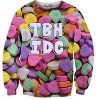 sugar pill - Thin TBH IDC Candy Ladies Sweatshirt D Print Hoodies Tops Sports Wear Crewneck Tracksuit for Women Pills Sugar Harajuku