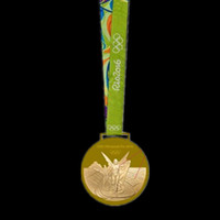 award medals - 1 Rio Olympic badge gold medal Championship award badge with belt