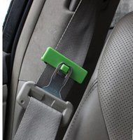 Wholesale 2 car seat belt slack adjuster seat belt clip adjust clamp jaw antiskid clamp holder