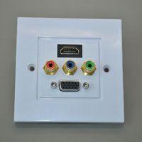 av wall panel - 86 panel HDMI av lotus VGA panel HDMI socket panel VGA panel rca audio and video wall plug plate