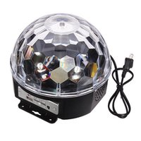 Wholesale New hot sale Home Disco Stage Lighting x LED Lighting RGB Magic Crystal Ball Effect Laser Remote Control for home club party EU UK plug