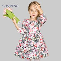 best baby clothes designers - Brand new fall dress baby Designer children clothing High quality printing round neck long sleeved dress Best suppliers from china