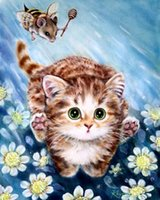 arts and crafts embroidery patterns - HWB DIY diamond painting diamond mosaic diamond embroidery Lovely cat pattern hobbies and crafts home decor x50cm