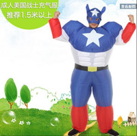 adult sumo suits - New Adults Inflatable Airsuit Sumo Suits Inflatable suit Captain America inflatable doll dress to adult Bar activity party decoration funny