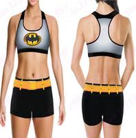 batman logo shirt - Batman Camisoles The Dark Knight Tanks Shirts Running Singlet Vest Black Gold Smiles Batman Logo Camisole Sports Tank Tops Print Sleeveless