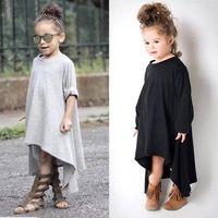 american degrees - New Kids Child Cotton Girls Dresses Hot Sale long Sleeves Spring Autumn degree rotation Little Girls Fashion Dresses MC0092