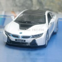b brand toys - Brand New KINGSMART Scale Germany B M W i8 Diecast Metal Pull Back Car Model Toy For Gift Collection Kids