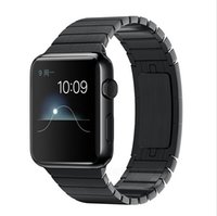 Wholesale FOHUAS Series L link bracelet for apple watch band mm stainless steel strap with original clasp space black