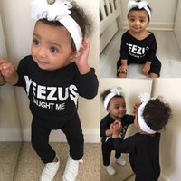 baby boy clothes trendy - 2016 trendy baby rompers quot Yeezus quot taught me funny letters printed clothes children boys Girls Infant black Cotton Jumpsuit Bodysuit Outfits
