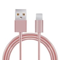 Wholesale Latest gold metal Aluminum Wire pin USB Date Sync Charging Charger Cable for i Phone for iPad fit