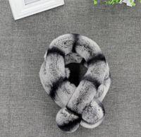 Wholesale Kids Adult Fashion Winter Real Rex rabbit fur soft warm Scarfs Scarves