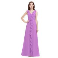 art weights - Big Plus Size Women Sleeveless Flower Ruffled V neck High Waisted Chiffon Prom Long Evening Party Dress Light Weight Dress