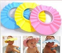 Wholesale Free delivery quality adjustable baby shampoo cap baby cut shower cap