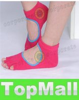 Wholesale LAI Mixed Colors Non slip Women Five Finger Yoga Toe Ankle Grip Bare Instep Durable Soft Yoga Sock In Stock