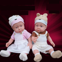 baby sleeping sounds - 41CM Baby Sleeping Dolls Silicone Reborn Baby Doll Little Girl Boy Shower Dolls Early Education Dolls Princess Simulation Toys