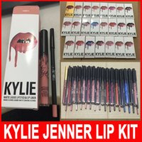 Wholesale KYLIE JENNER LIP KIT Kylie Lip Velvetine Liquid Matte Lipstick in Red Velvet Makeup Lip Gloss colors